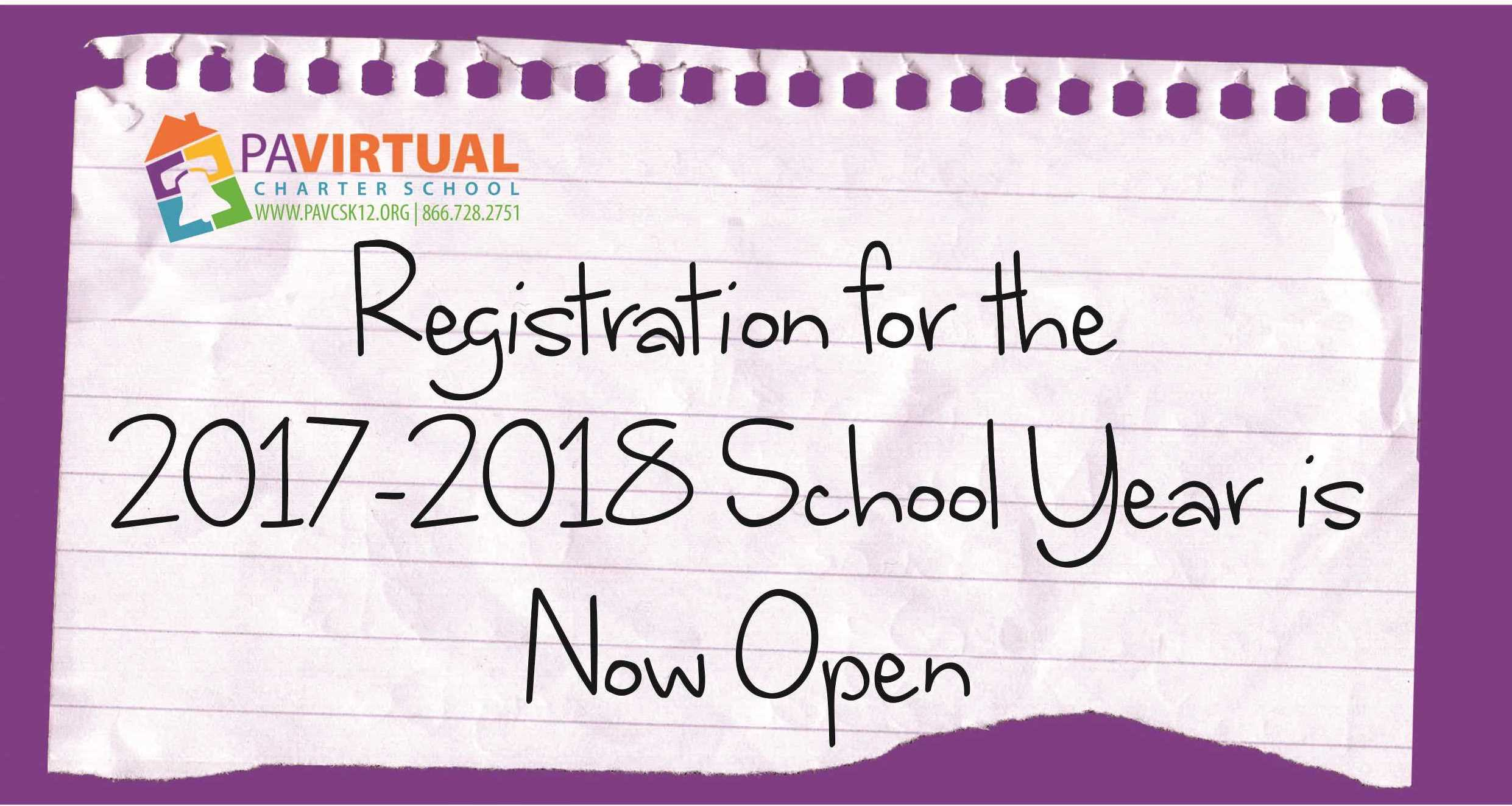Registration for the 2017-2018 SY is Now Open!